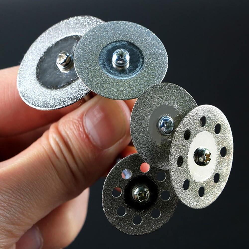 10pcs Diamond Teeth Grinding Sand Small Slice Electric Grinder Polishing Mini Drill Discs Grinding Accessories