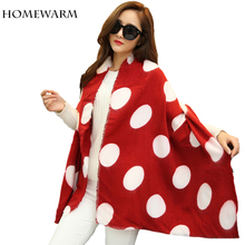 Women s Warm Shawl Winter Scarf Dot Printing Tartan Scarf Plaid Scarves for Women Bandana Collar