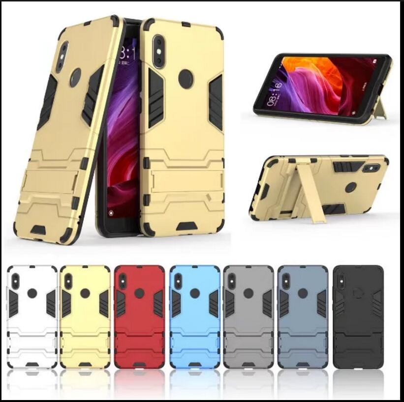 100pcs lot free shipping Stand PC TPU 2 in 1 Hybrid Armor Case For xiaomi Mi