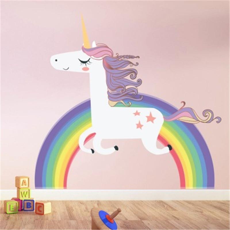 Cartoon Unicorn Wall Sticker Girls Boys Children/'s Room Decor Multi-Color Great