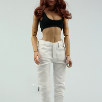 1/6 Scale Women Sexy Ultra Short Vest Clothing Female Sexy Jeans Clothes For 12 Action Figure Body Doll Toys