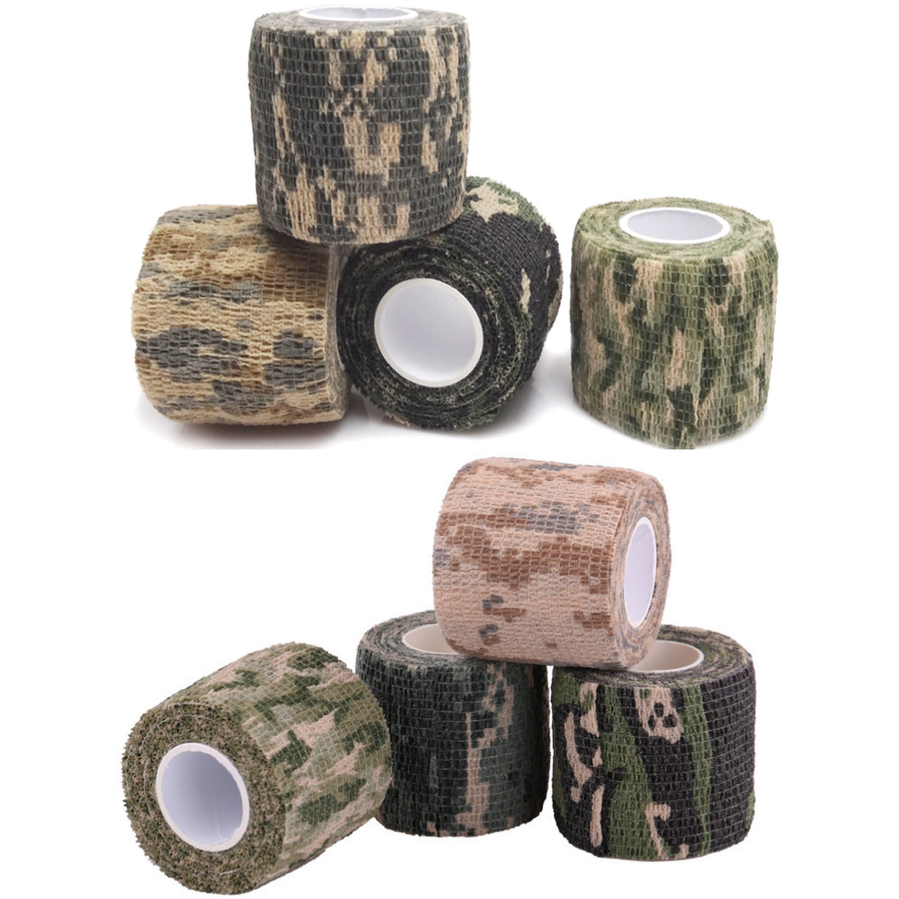 Durable military camouflage elastic tape waterproof outdoor camouflage non-woven wrist wound bandage sports Tatoo handle setsDurable military camouflage elastic tape waterproof outdoor camouflage non-woven wrist wound bandage sports Tatoo handle sets