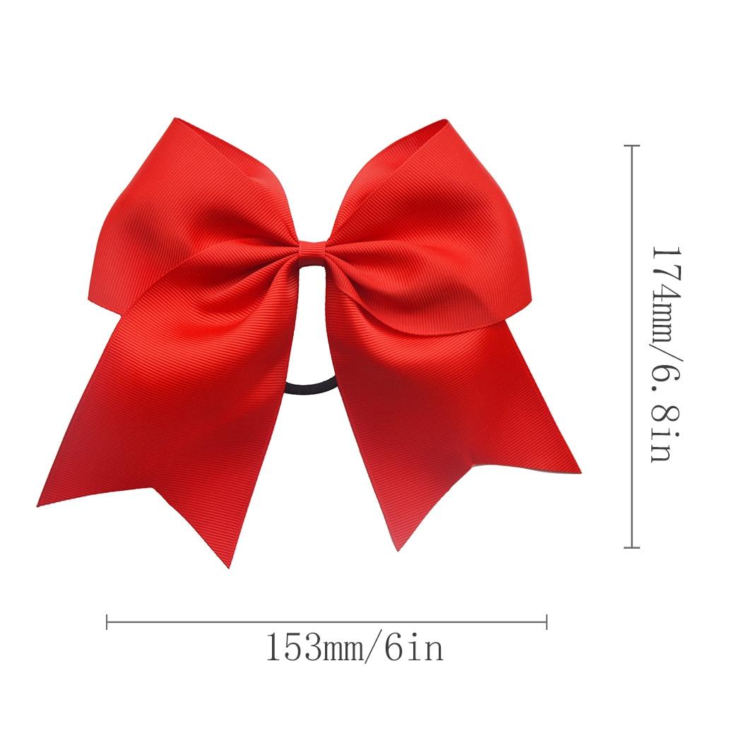 6 Inch Big Satin Hair Bows for Girl Hair Accessories Women Black Elastic Hair Bands Ties   Headwear   Ponytail Holder 2019 VERVAE
