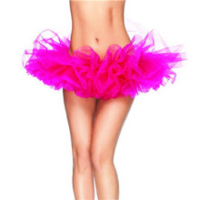 High Quality Women Tulle Tutu Skirt Sexy Mini Fancy Adult Petticoat Fluffy 6 Layers Yarn Ballet Dance Skirt For Lady 13 Colors