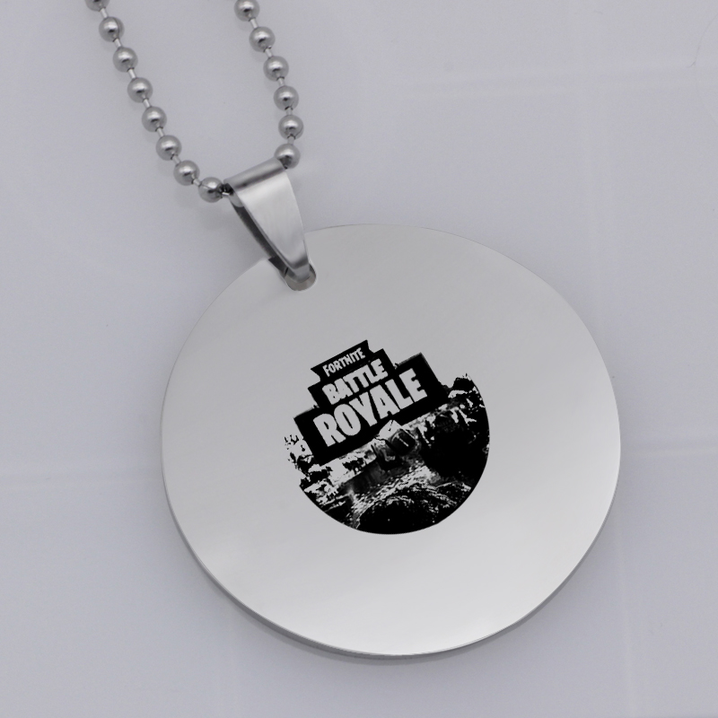 Ufine FPS Game pendant Fortnite battle royale pendant stainless steel jewelry necklace Customed words or name necklace N458