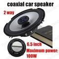 2 pcs 6.5 polegada 2x100 W alto-falantes estéreo do carro de áudio à prova d' água falante coaxial altofalante do carro de 2 vias para todos os carros de alta qualidade