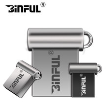 Free shipping super mini usb 2.0 pendrive metal 32GB USB Flash Drive 64G pen drive 16GB 8GB 4GB u disk flash memory stick gift(China)