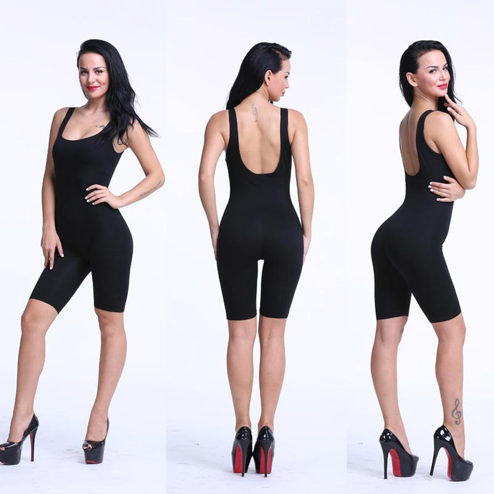 689ca07f8a Sexy Women Rompers Solid Bodysuit Overalls Summer 2016 Cotton Bodycon  Strapless Jumpsuit Backless Dungarees Woman Playsuit