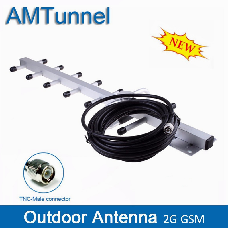 GSM Antenna Yagi Outdoor Antenna 11dBi TNC Male Antenna 10m Cable 824-960Mhz