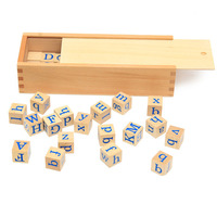 Montessori wooden English letters teaching aids baby early education toys