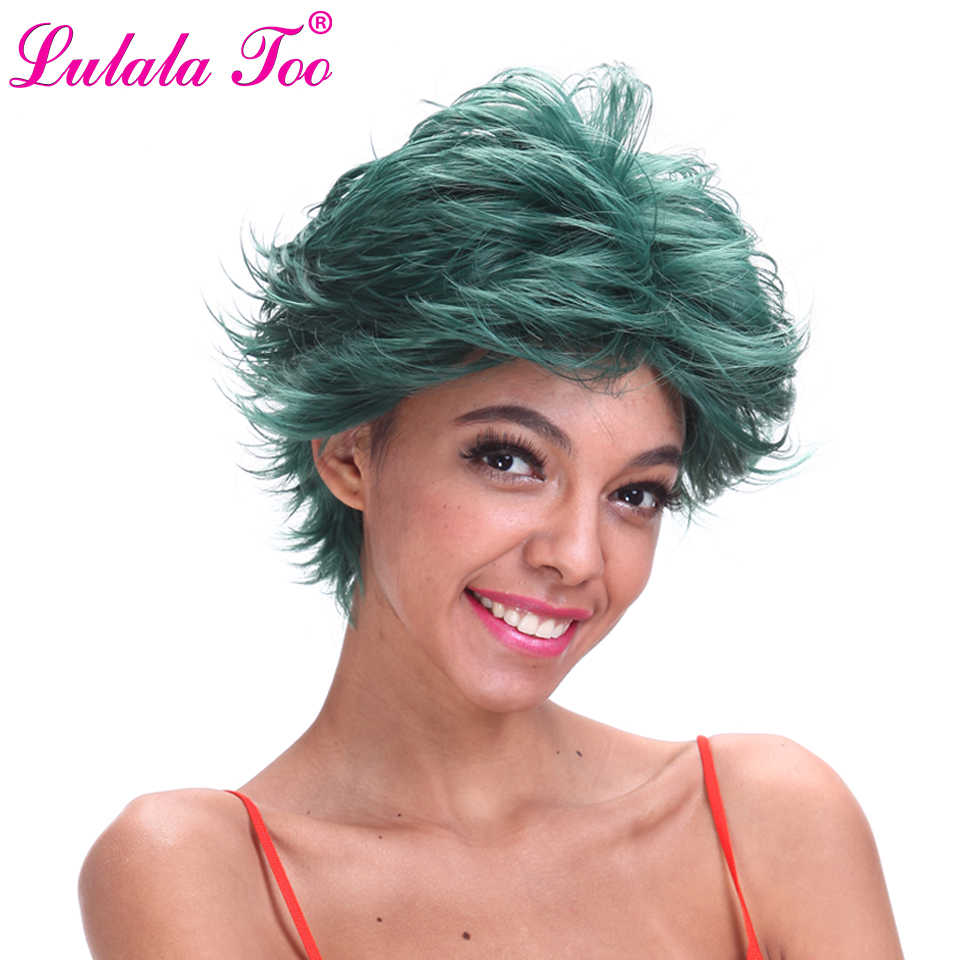 Short Dark Green Synthetic Wig For Women Or Men My Boku no Hero Academia Deku Wig Izuku Midoriya Anime Costume Cosplay Wig