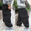 Plus Size Hip Hop Joggers Sweatpants for Men and Women Streetwear Big Pocket Cargo Pants Casual Straight Loose Baggy Trousers 8