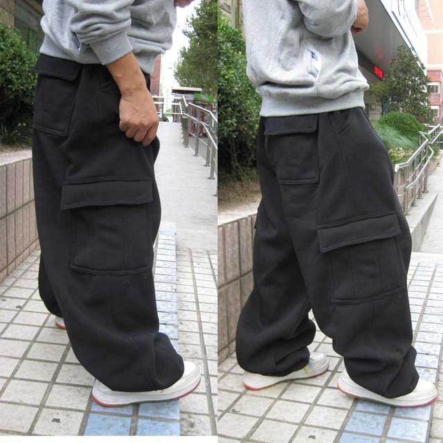 Plus Size Hip Hop Joggers Sweatpants for Men and Women Streetwear Big Pocket Cargo Pants Casual Straight Loose Baggy Trousers 3
