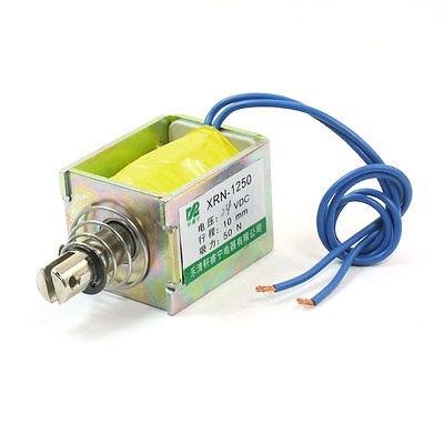 XRN-1250 DC24V/DC12V Pull Type 10mm 50N Open Frame Solenoid Electromagnet 24v pull hold release 10mm stroke 6 3kg force electromagnet solenoid actuator