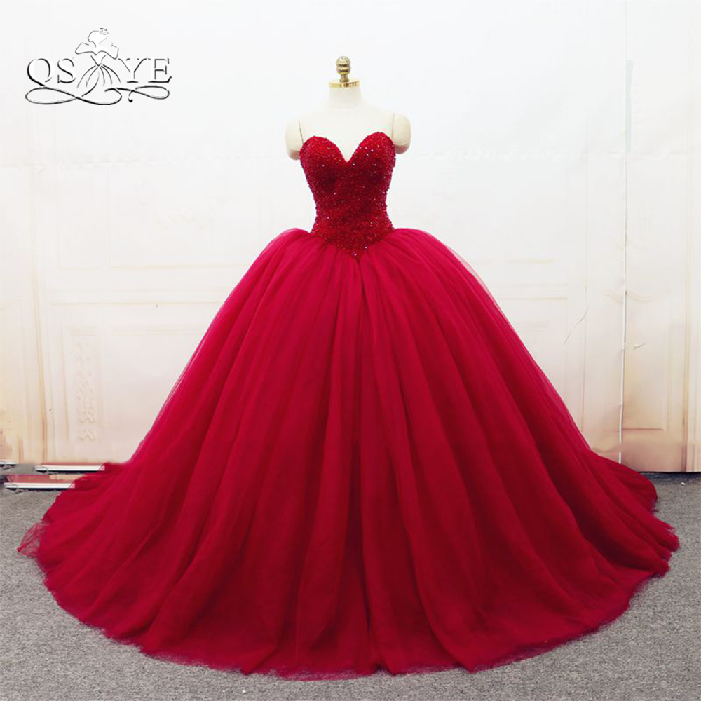 Vestido De Casamento Sweetheart Ball Gown Tulle Prom Dress 2018 Hot Pearl Pink Sexy Women Pageant Evening Gowns Ball Prom Dress