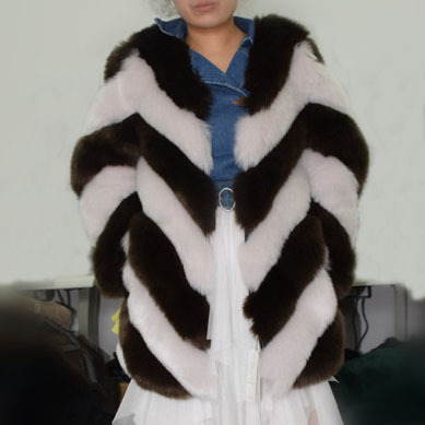 a8c81f351f1 Товар ZADORIN 2018 Designer Brand Luxury Faux Fox Fur Coat Women ...