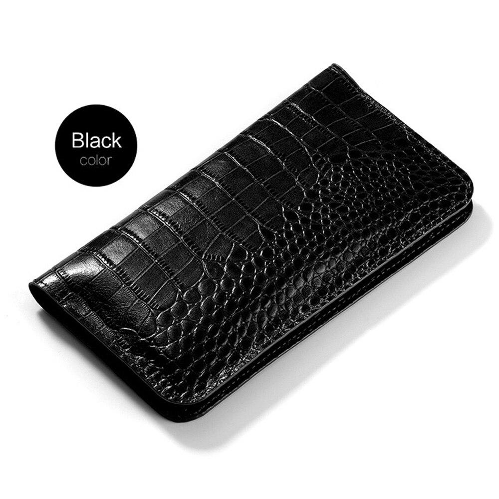Flip étui en cuir véritable pour Redmi 4X plus coque de téléphone en peau de Crocodile sac portefeuille Note4 Plus 6a 8 A2 lite Max 3 Mix sac à main