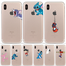Phone Case for iPhone X XS MAX XR 6 6S 7 8 Plus Cartoon Funny Unique Design Pattern Silicone TPU Soft Originality Cover