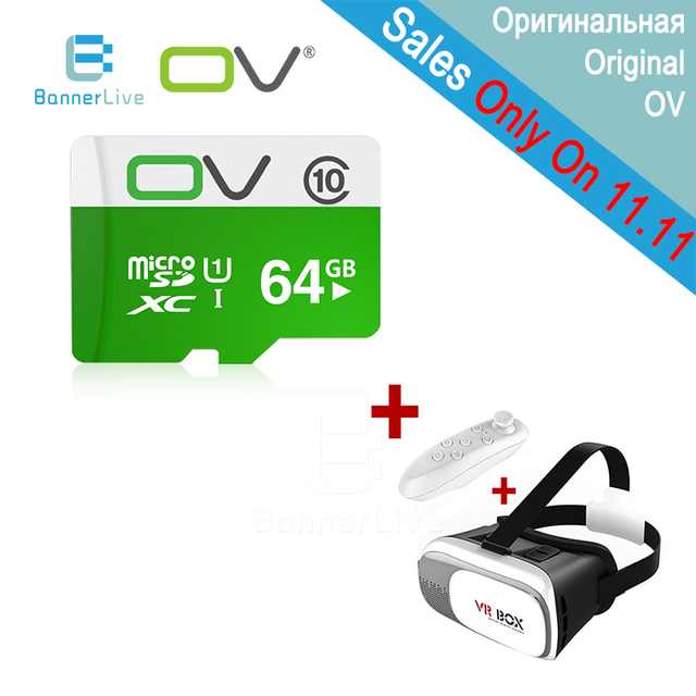 OV Memory Micro SD Card Class 10 64GB 32GB 16GB 8GB TF Carte Microsd Flash Card SDCard with VR Box 3D Glasses