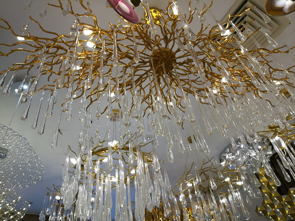 Living room pendant light French crystal led branches bar lamps - Indoor Lighting - Photo 4
