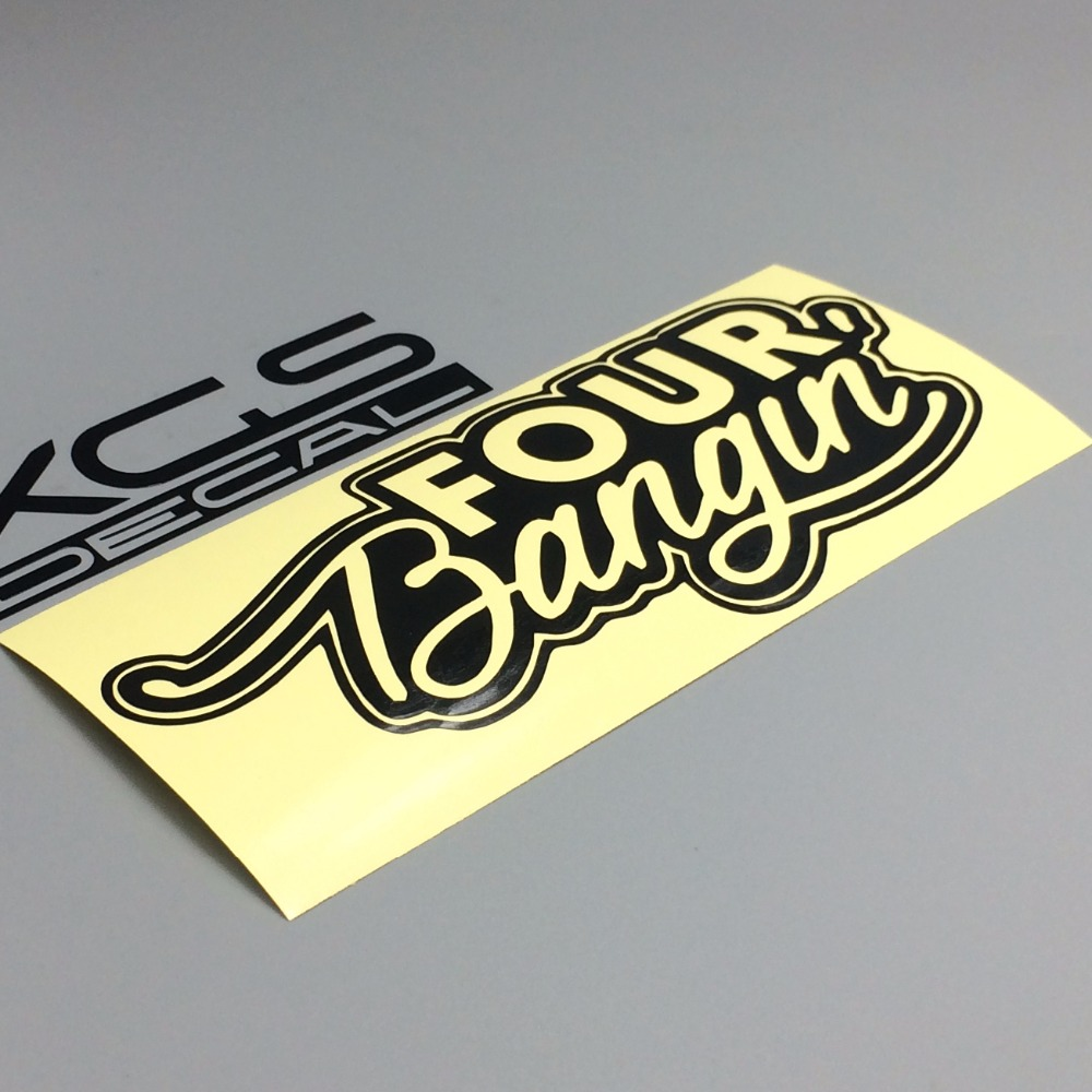 XGS DECAL Car decals JDM four bangin 15cm x 6cm car motorcycle truck waterproof reflective vinyl stickers ...