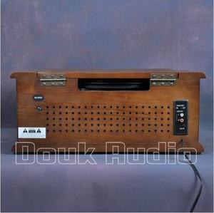 Image 5 - Nobsound Hi end Stereo Turntable LP Vinyl Record Player Tape&CD&U disk&AM/FM Radio&AUX&USB Audio 220V