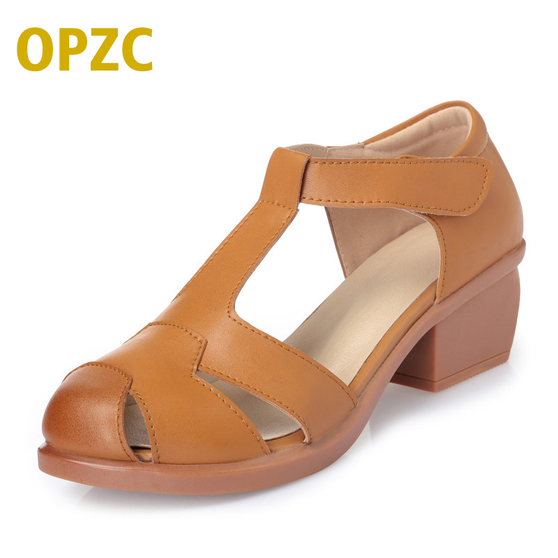 OPZC Fashion Slingback Flat Sandals Summer Rome Ankle Strap Closed Toe Strappy Gladiator Beach Dress Sandals For Girls Shoes