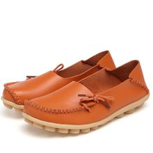 Woman Flats Loafers Women Genuine Casual Cow Leather Fisherman Shoes Female Soft Bottom Spring Autumn Ballet Flats High Quality 2018 new women flats 3d flower straw fisherman shoes fashion casual female high quality shoes spring summer black white 35 40