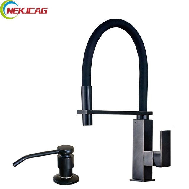 Contemporary Pull Down Kitchen Sink Faucet Deck Mounted Mixer Water - Oil rubbed bronze pull down kitchen faucet