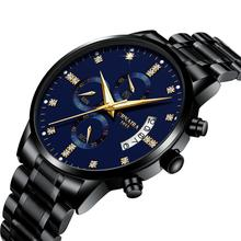 2019 Men Watch Chronograph Sport Mens Watches Top Brand Luxury Waterproof Full Steel Quartz Gold Clock Men Relogio Masculino цена и фото