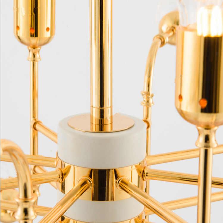 Винтажная Лофт промышленная люстра черный золотой Бар лестница подвесной светильник обеденный стеклянный шар Ретро Линдси стекло Лофт Золотая люстра