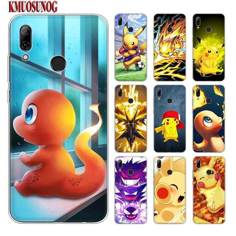 Silicone Phone Case Pokemons Pikachu for huawei P30 Lite P Smart Honor 7A 8 8A 8C 8X 10i Y5 Y6 Y7 Y9 Pro 2019 2018 2017