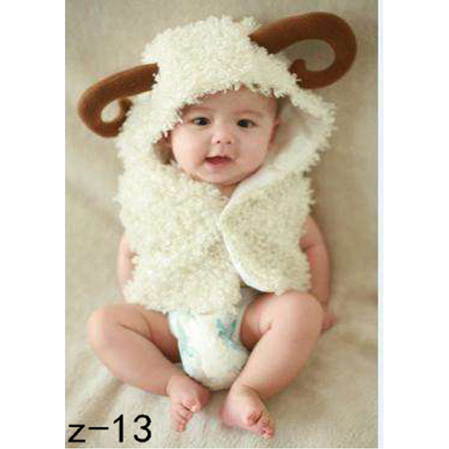 ff52bd711 Newborn baby photography props cute cartoon white sheep model baby ...