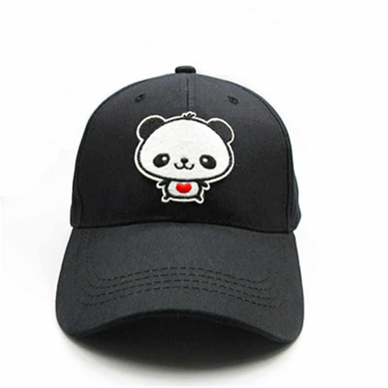 2019 Cartoon panda stickerei baumwolle Baseball Cap hip-hop cap Einstellbare Hysterese Hüte für männer und frauen 178