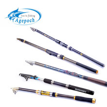 Agepoch 2.1M-7.2M Carbon Fiber Rock Fishing Rod Spinning Tackle Winter Feeder Peche Telescopic Carp Cast Pole Troll Sea