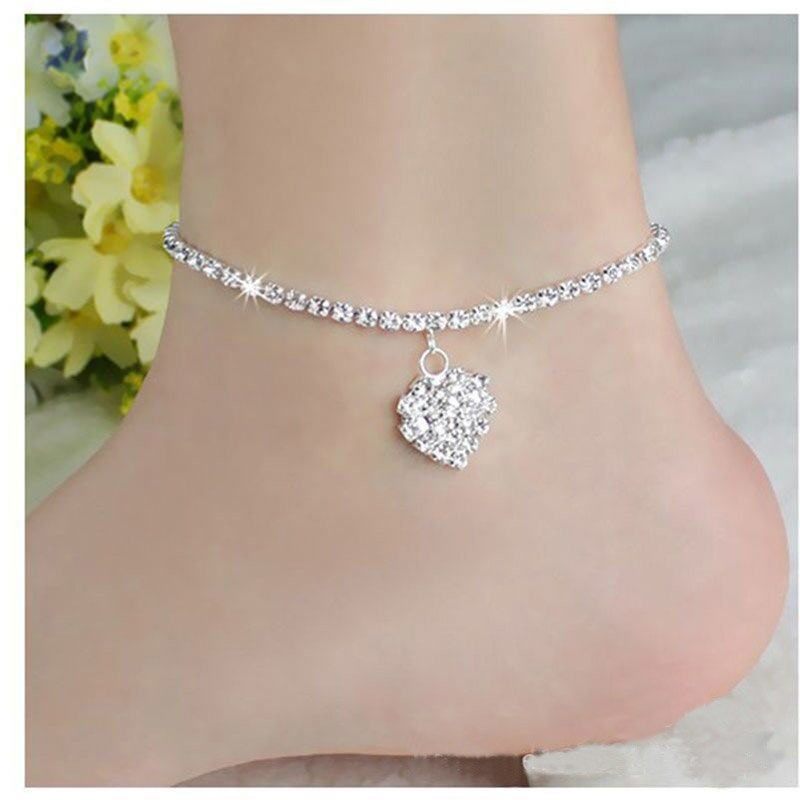 Amiable White Foot Chain Jewelry Lace Up Women Bracelet Anklets Barefoot Sandal Beach Fashion Jewelry