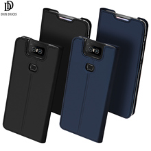 Flip Case For ASUS ZenFone 6 ZS630KL PU Leather TPU Soft Bumper Protective Card Slot Holder Wallet Stand Cover Mobile Phone Bag стоимость