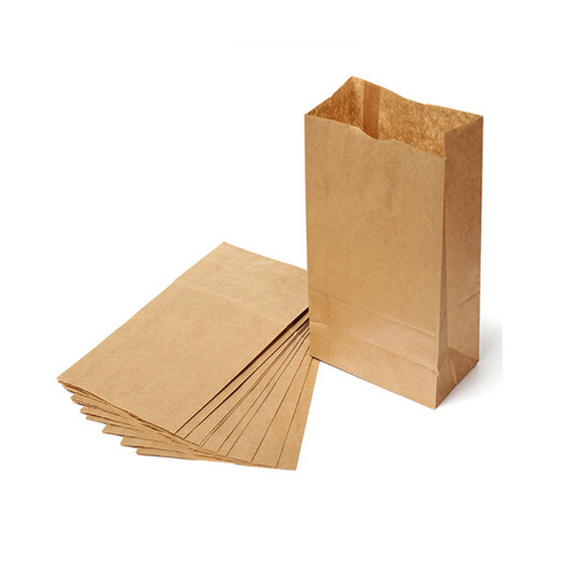 10pcs Kraft Paper Bag Brown Party Wedding Favors Handmade Bread Cookies Gift Bags Biscuits Packaging Wrapping Supplies