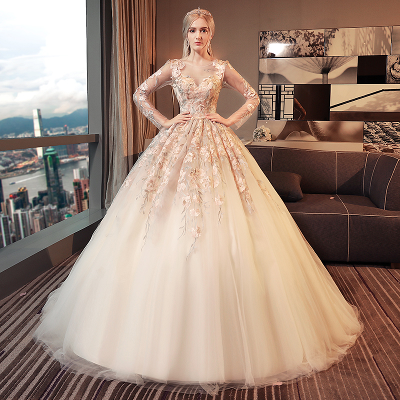 Haute Couture Wedding Gown: 2018 Haute Couture A Line Women Wedding Dress Colorful