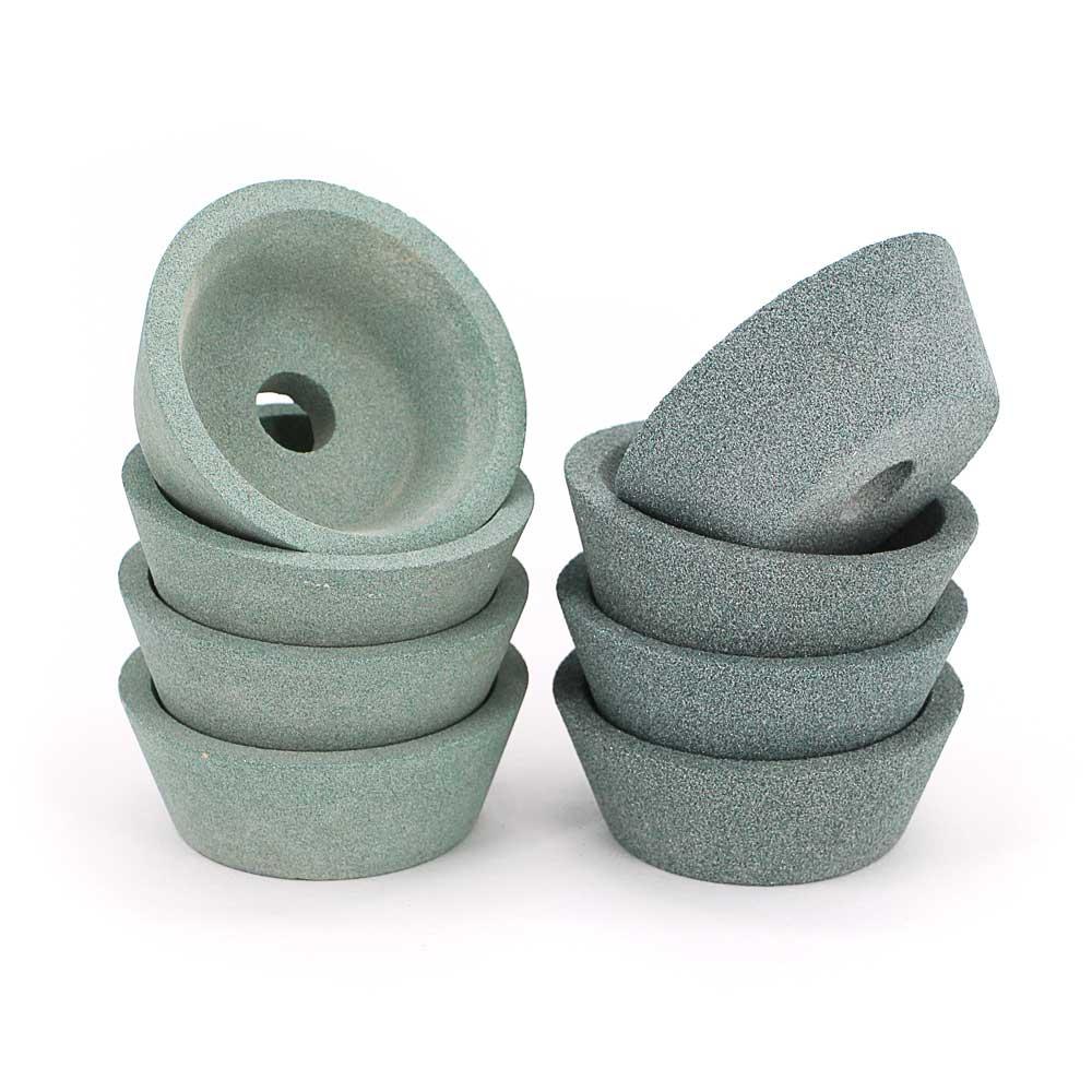 5pcs GC bowl shape grinding wheel Green silicon carbide abrasive wheel for tungsten carbide gem stone