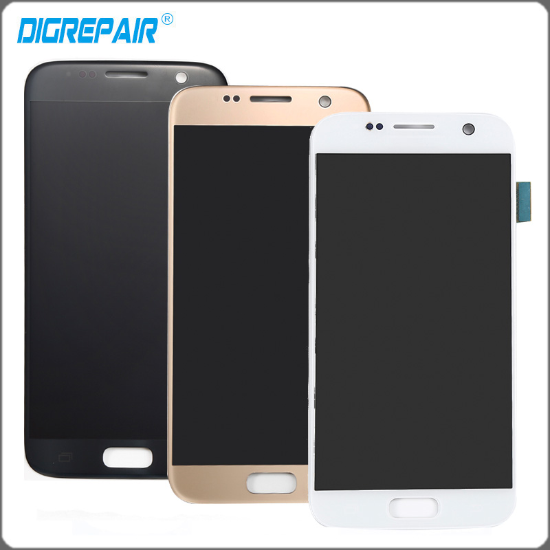 black gold white lcd display touch screen digitizer full assembly repair parts for samsung galaxy s7