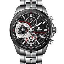 Marque de luxe montre homme en acier inoxydable quartz-montre de sports de plein air mode chronomètre étanche 100 m hommes montre CASIMA #8303