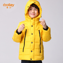 DOOLLEY Boy Winter Down Coats Hooded Kids Thick Warm Cotton Outerwear Size 110-150 cm Christmas / New Year Clothing For Children