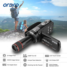 ORDRO HDV-Z8 1080P Full HD Digital Video Digicam 24 MP LCD Contact Display screen Camcorder with 12x Telephoto Lens Assist Face Detection