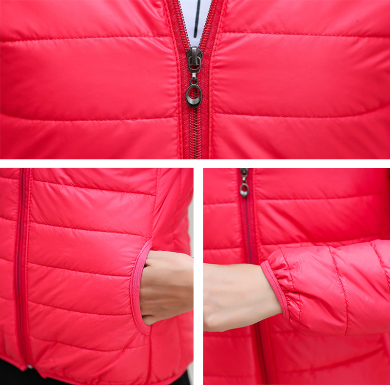 e218b87fdfdb ... autumn hooded Coat Female Spring Jacket Women Padded cotton Parkas  Casual Thin light Basic Jackets. -39%. Click to enlarge
