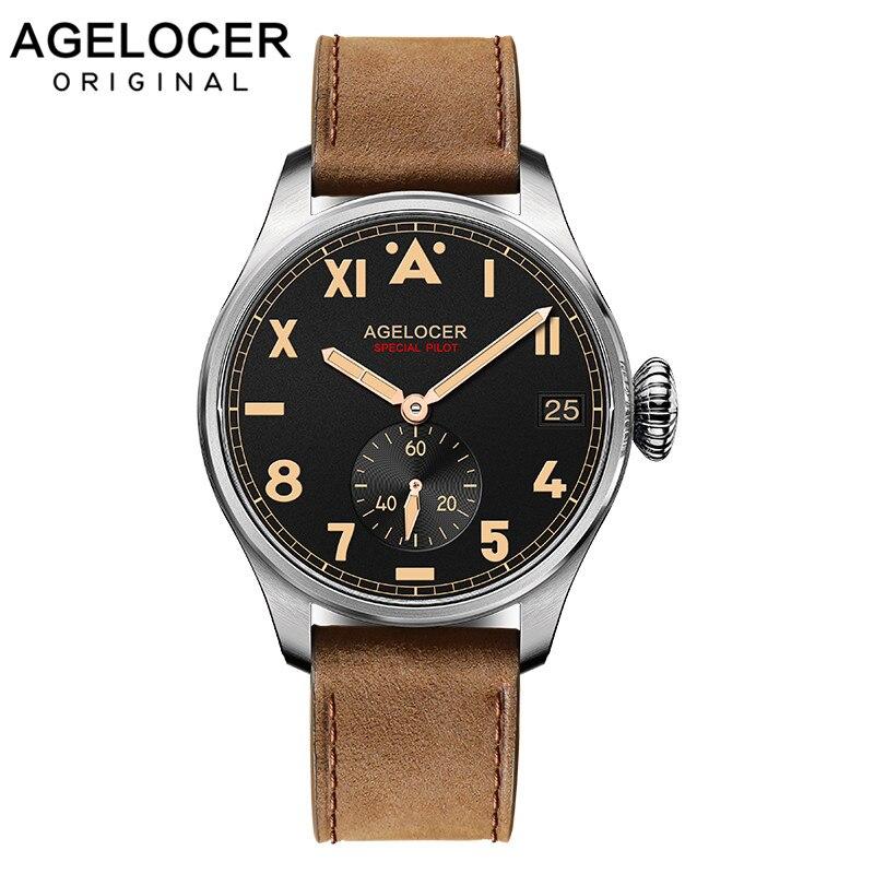Suisse marque locale AGELOCER hommes montres de luxe étanche en acier inoxydable 316L mécanique montre pour hommes Relogio Masculino