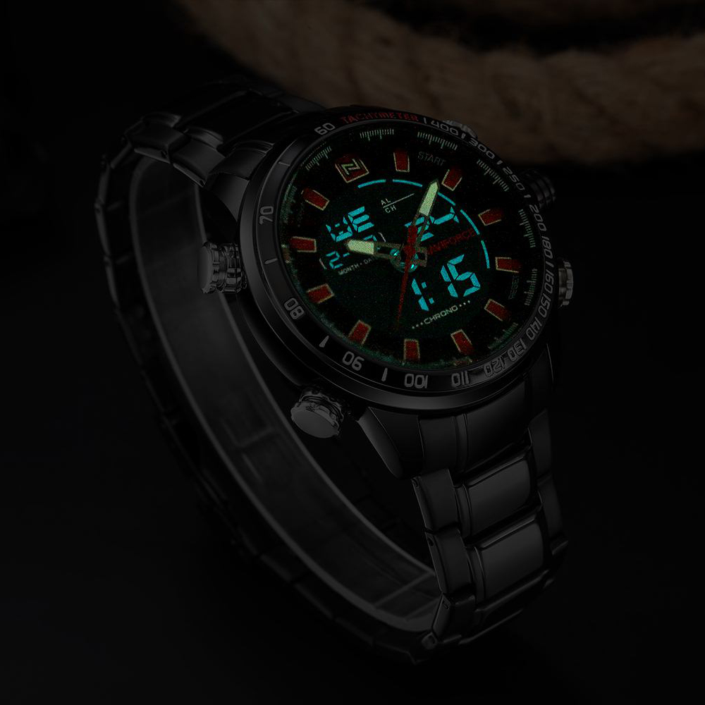 NAVIFORCE Mens Quartz Analog Watch Luxury Fashion LED Sport Wristwatch Waterproof Stainless Male Watches Clock Relogio Masculino 19