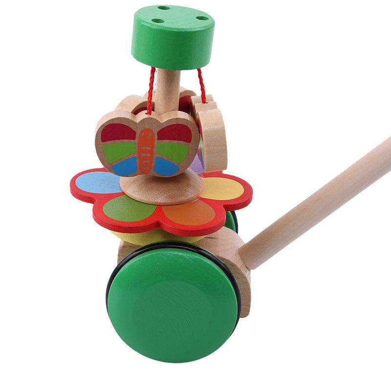 Miele Per Bambini In Legno Rotante Farfalla Singola Asta Animale Trolley Bambino Colorato Montessori Giocattoli Educativi Di Apprendimento