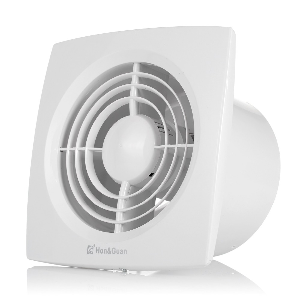 Hon&Guan 6' 150mm HGA-150D HGA 150D Ceiling and Wall mounted Ultra Thin Silence Ventilation Fans 220V Exhaust Fan for Bathroom 12w 4inch ventilation exhaust fan bathroom ceiling wall mount blower window wall kitchen toilet bath fan hole size 100x100mm