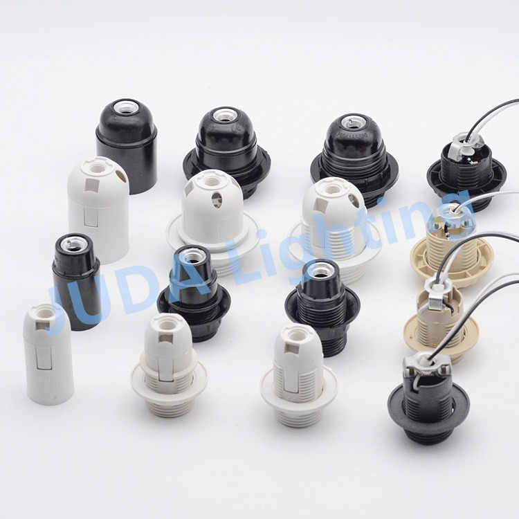 E27 E14 socket lamp holder lamp base Bakelite plastic lamp holder with cable wire for chandelier led bulb pendant light fittings